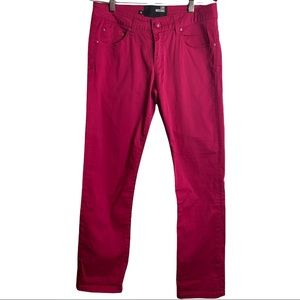 Love Moschino Women's Hot Pink Cropped Ankle Pant Size 28